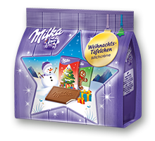 Milka Weihnachtstäfelchen 150g