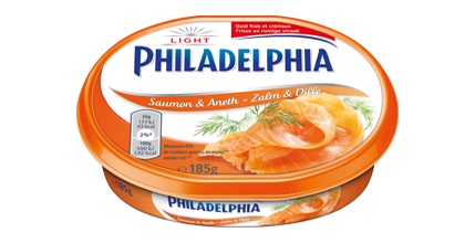 Philadelphia με Σολομό και Άνηθο