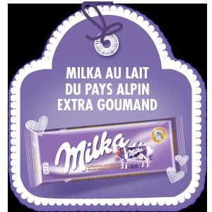 MILKA AU LAIT DU PAYS ALPIN <br>EXTRA GOURMAND