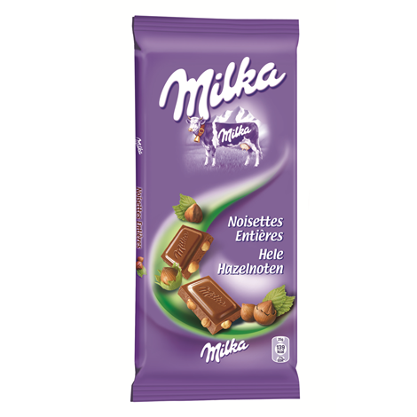 Chocolat Milka Lait Noisettes 100g Alt Mondelez Pro