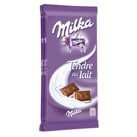 Chocolat - Milka Tendre au Lait 2x100g | Mondelez Pro