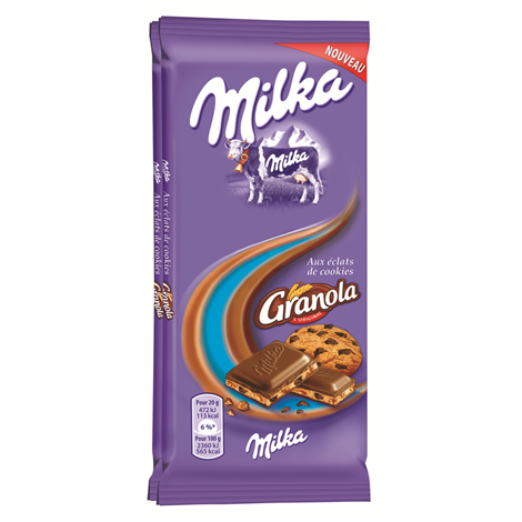 Chocolat - Milka Granola 2x100g 28CA Alt Mondelez Pro