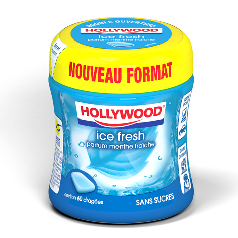Chewing-gum - Hollywood Ice Fresh parfum menthe fraîche Alt Mondelez Pro