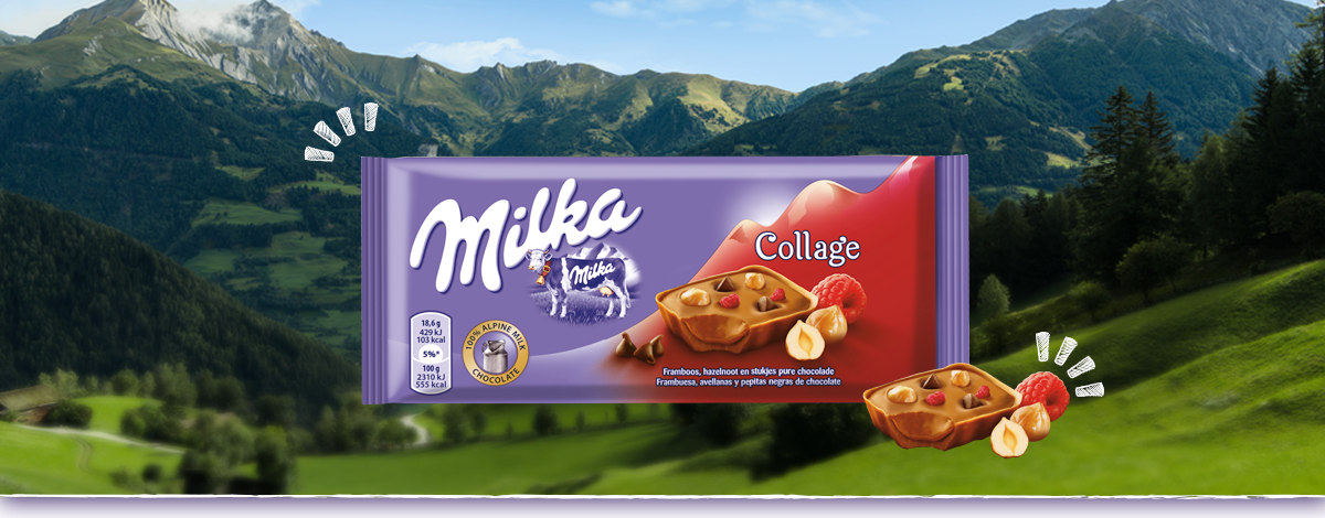 Milka Collage Framboos
