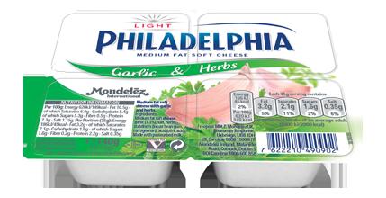 Philadelphia Light Garlic and Herbs Minitubs