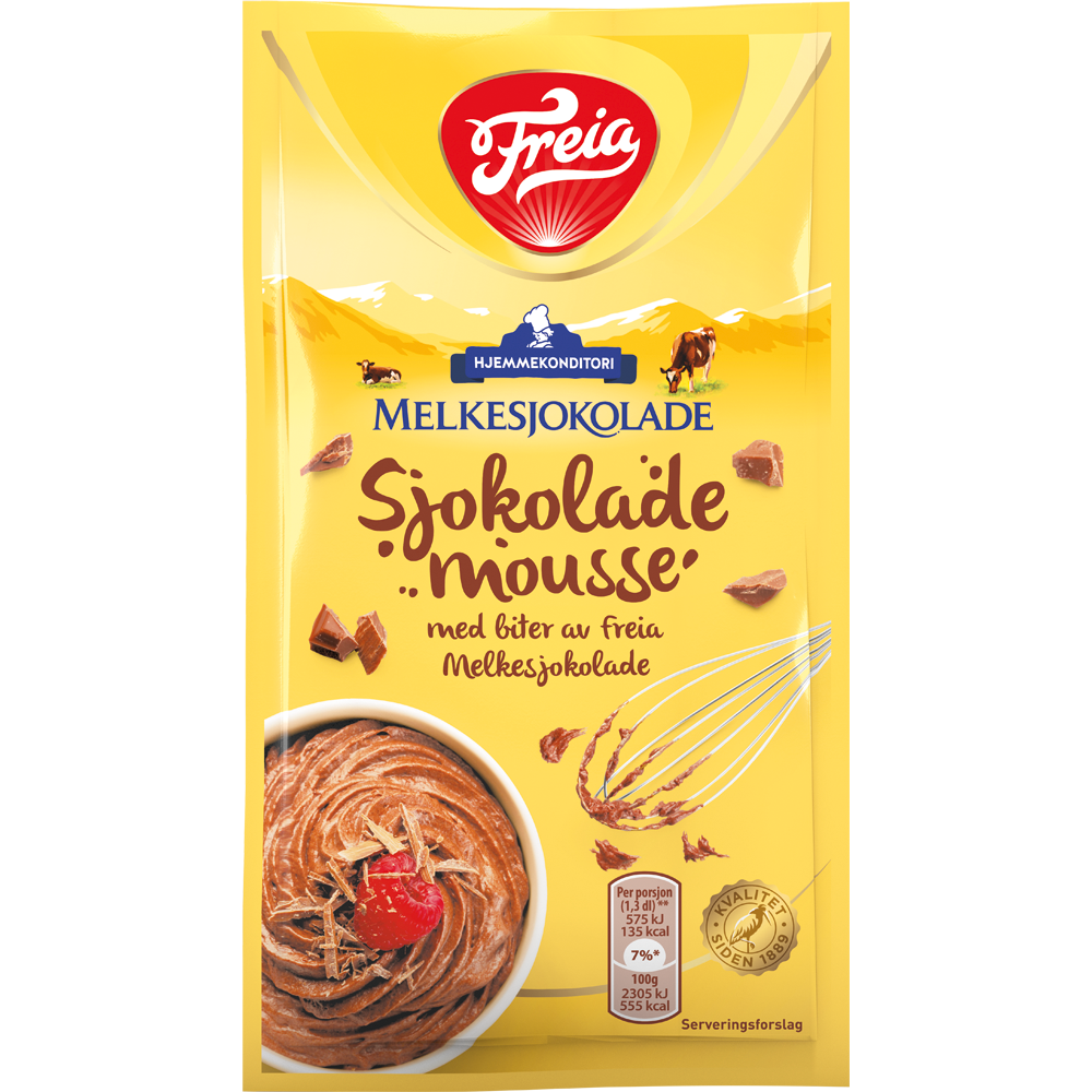Freia Sjokolademousse med Melkesjokoladebiter (100 g)