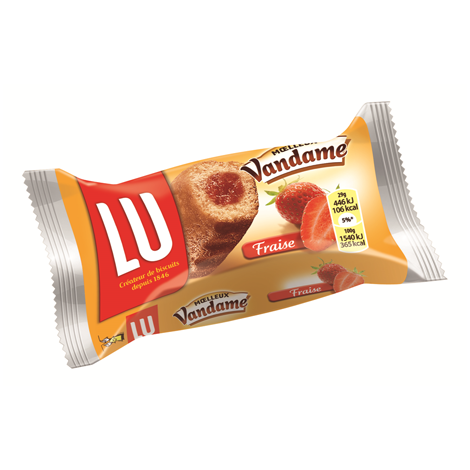 Biscuits - Gateaux - Vandame fourré fraise à bords cannelés x168 Alt Mondelez Pro
