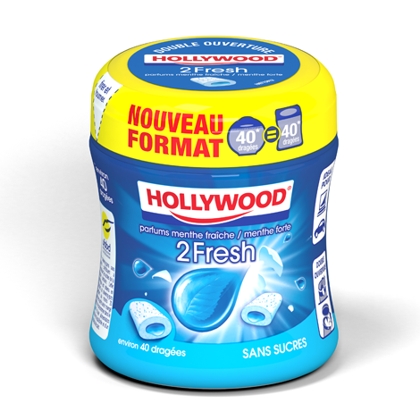 Chewing-gum - Hollywood 2 Fresh parfum menthe fraîche Alt Mondelez Pro