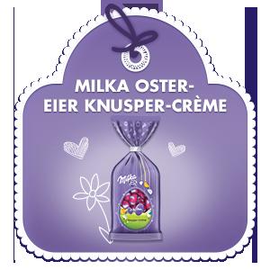 Milka Oster-Eier Knusper-Crème 100g