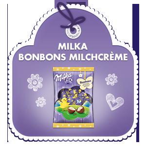 Milka Bonbons Milchcrème mit Haselnussstückchen 86g