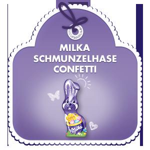 Milka Schmunzelhase Confetti 100g