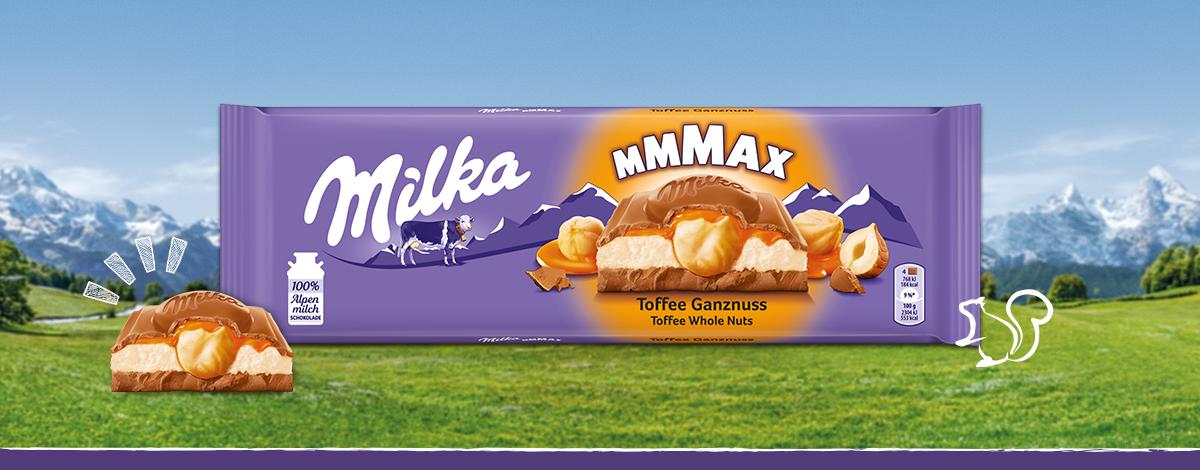 Milka Mmmax Toffee Ganznuss