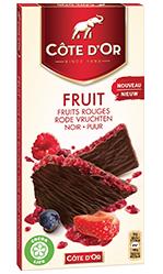 Chocolat Côte d'Or FRUIT Fruits Rouges