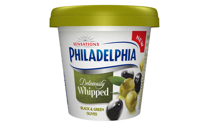 Philadelphia Deliciously Whipped Black & Green Olives 140g