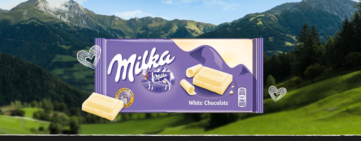 MILKA WHITE CHOCOLATE 100 g