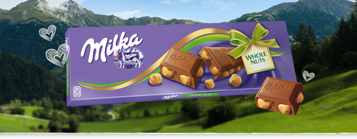 MILKA WHOLE NUTS 250 g