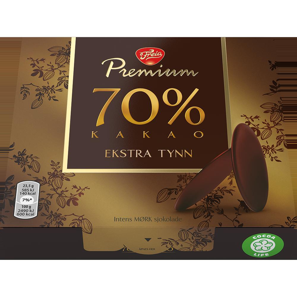 Freia  Premium 70 Tynne Pletter (130g)