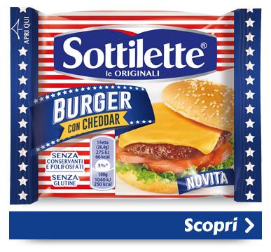 Sottilette<sup>®</sup> Burger con Cheddar
