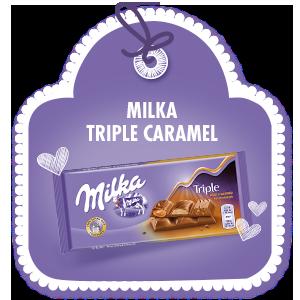 MILKA TRIPLE CARAMEL