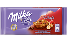 Milka Collage Málnás 93g