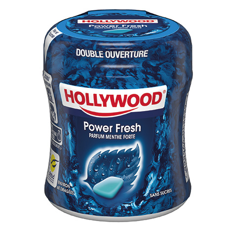 Chewing-gum - Hollywood 87g bottle powerfresh menthe forte 36CA Alt Mondelez Pro