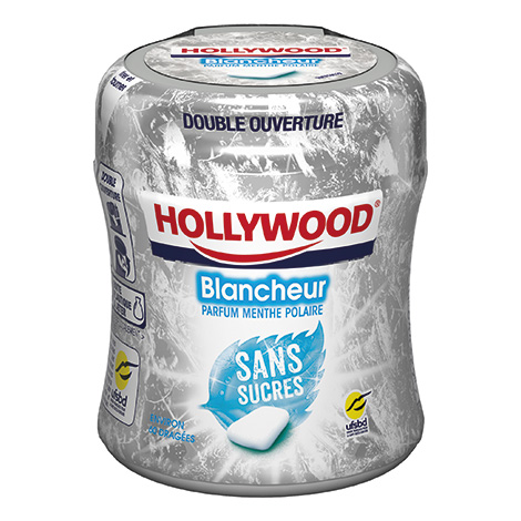 Chewing-gum - Hollywood 87g Bottle White Mint 36CA Alt Mondelez Pro