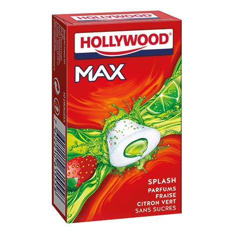 Chewing - gum - Hollywood Max Fraise et Citron Vert 16x22G Alt Mondelez Pro