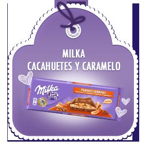 MILKA CACAHUETE Y CARAMELO