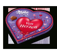 """I love Milka Geschenkherz 187g Valentinstag """"Von Herzen"""""""