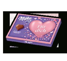 """I love Milka 110g Erdbeer """"Für dich"""""""