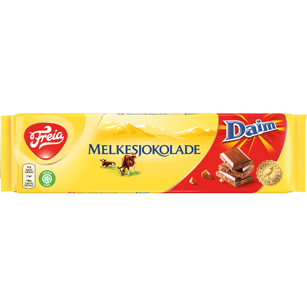 Freia Melkesjokolade med Daim (200 g)
