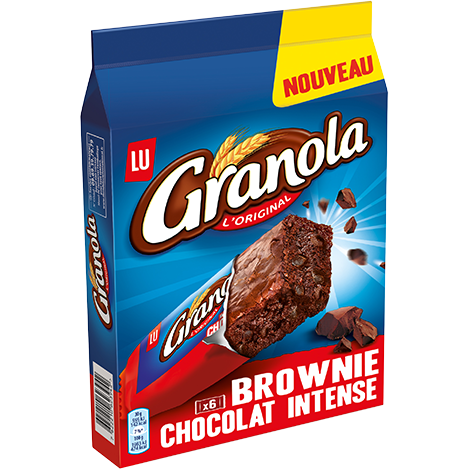 Biscuits - Gateaux - Granola Brownie Choco Intense 180g Alt Mondelez Pro