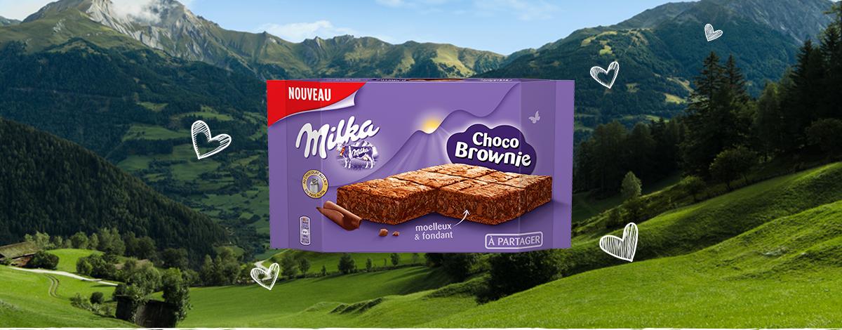 MILKA CHOCO BROWNIE FORMAT FAMILIAL