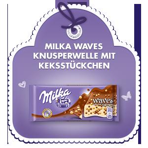 Milka Waves - Knusperwelle mit Keksstückchen