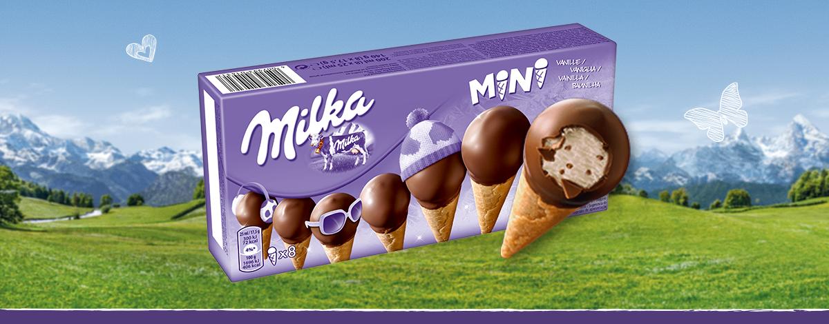 Milka Mini Waffelhörnchen