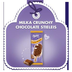 Milka Crunchy Chocolate Stieleis für unterwegs