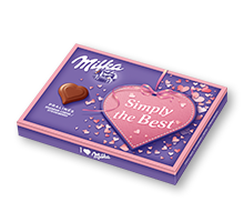 "I love Milka 110g Erdbeer ""Simply the Best"""