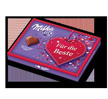 """I Love Milka 110g Nuss-Nougat """"Für die Beste"""""""