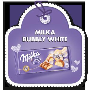MILKA BUBBLY WHITE 95 g
