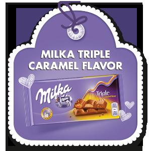 MILKA TRIPLE CARAMEL FLAVOR 90 g