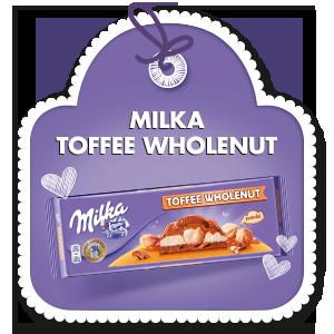 MILKA TOFFEE WHOLENUT 300 g