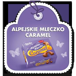 MILKA ALPEJSKIE MLECZKO CARAMEL 350 g