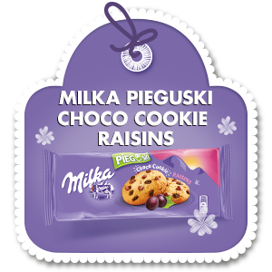 MILKA PIEGUSKI CHOCO COOKIE RAISINS 135 g
