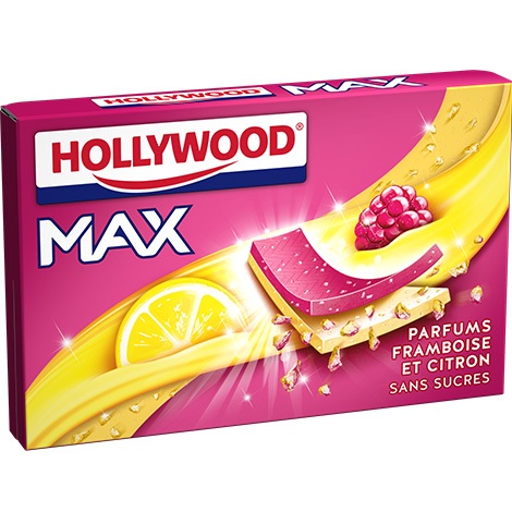 Chewing - gum - Hollywood Max Framboise - citron Alt Mondelez Pro