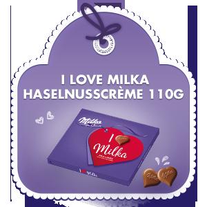 I love Milka Haselnusscrème 110g