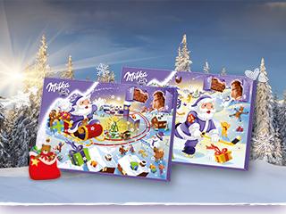 Milka Weihnachtskalender.Milka Adventskalender 200g