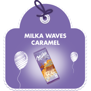 MILKA WAVES CARAMEL