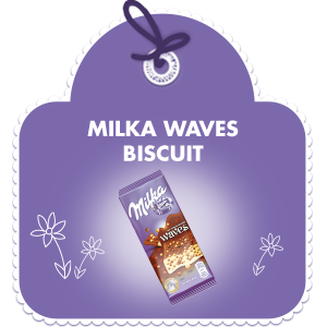 MILKA WAVES BISCUITS