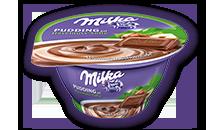 Milka Schokopudding auf Haselnuss-Soße