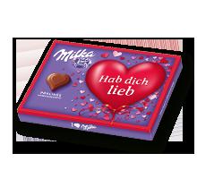 "I love Milka 110g Haselnusscreme Valentinstag ""Hab dich lieb"""